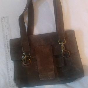 Miu miu by prada brown suede shoulder bag